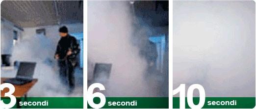 Mette in fuga i ladri con il nebbiogeno