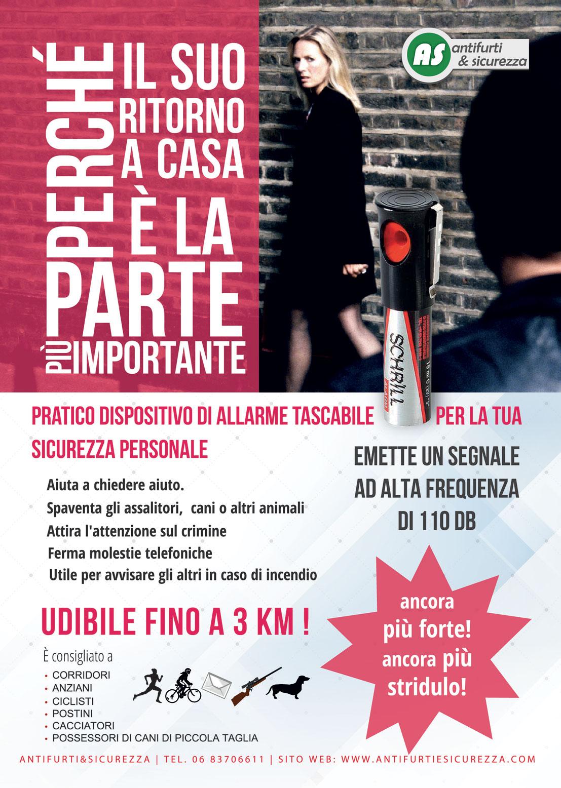 Sirena e spray antiaggressione - Antifurti&Sicurezza Roma
