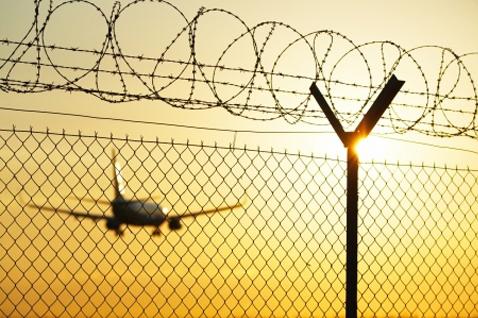 protezione recinzione aeroporto